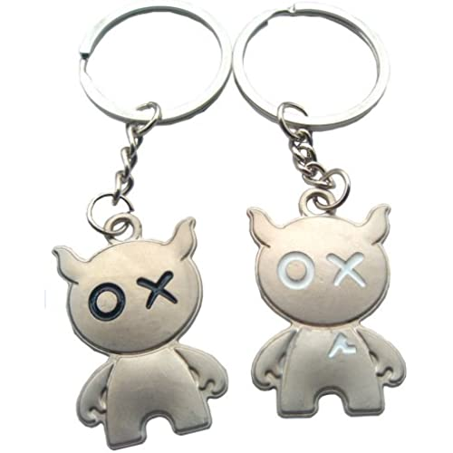 4EVER Weird Kawaii Pig Piggy Couple Keychain (With Gift Box and Greeting Card) Key Ring Key Chain Best Gift for Sales