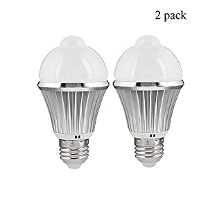 Motion Sensor LED Light Bulb,5W 450Lm E26 110V,Automatic Infrared Sensory  Motion Detector/Activated Night Light For Indoor Hallway Stairs Closet  Basement ...