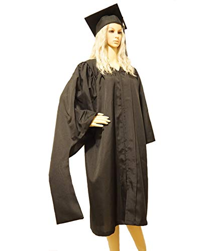 "Graduation Cap and Gown with 2019 Year Charm Master Degree (57"" (Fit 6"