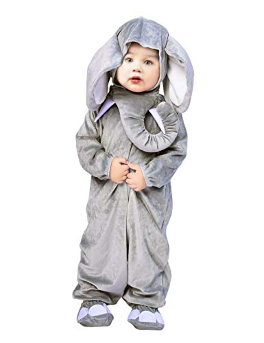 Baby Elephant Costumes For Halloween (Baby Elephant Costume, Animal Onesie Pajamas Cartoon Romper Boy Girl Outfit for Toddler Halloween 6PCS)