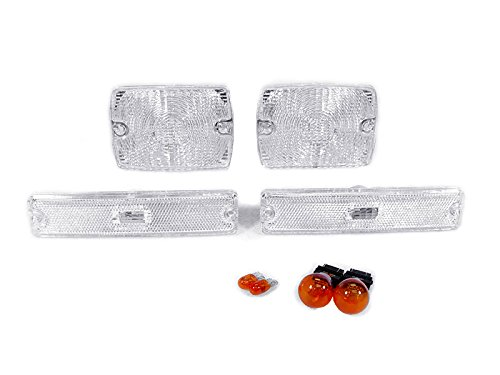 DEPO-1987-1993-Jeep-Wrangler-YJ-Clear-Bumper-Signal-Lights-Side-Marker-Light-Set