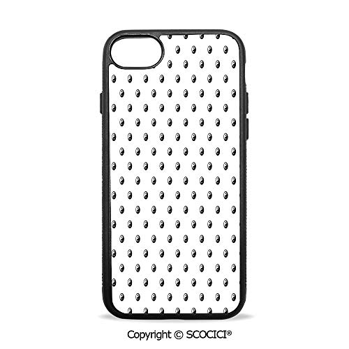 SCOCICI Non-Slip Drop Protection Smart Cell Phone Case Polka Dots Yin Yang Patterns Universal Duality Between Good and Bad Concept Compatible with iPhone 7 Plus