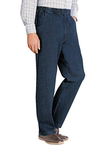 Hommes Élastiquée Cordon De Serrage Taille Pantalon Jean Bleu 91cm x 69cm