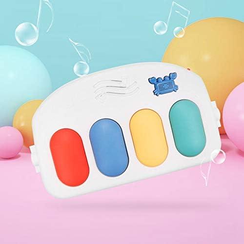 Moligh doll Babyspielmatte Babyspielzeug 0-12 Monate Soft Lighting Rasseln Musikspielzeug Babyspielzeug Piano Gym Red