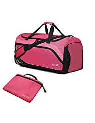 Bagail Travel Luggage Duffle Bag Lightweight for Sports, Gym, Vacation Red