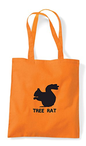 Rat Animal Funny Names Cute Shopper Squirrel Themed Alternative Bag Tree Orange Tote t4dxxY