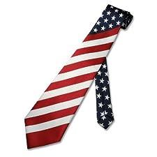 American Flag Men's Neck Tie USA Patriotic NeckTie NEW