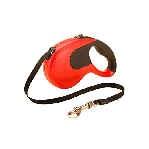 PG-One Retractable Dog Leash Flexible Automatic Extending Walking Lead Rope Traction for Small Medium Dog 10 Colors,Red,S (3M 10Kg Dog)