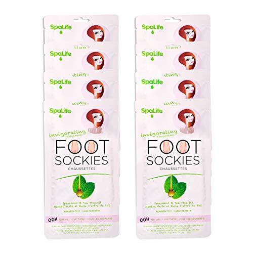 (SpaLife Invigorating Spearmint & Tea Tree Oil Foot Sockies (8 Ct))