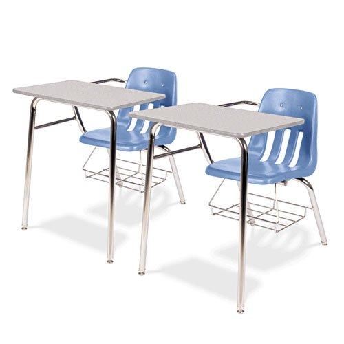 Gray Tables Nebula 30h (Virco - 9400 Series Chair Desk, 21w x 33-1/2d x 30h, Gray Nebula/Blueberry, 2/Carton 9400BR40091 (DMi CT)