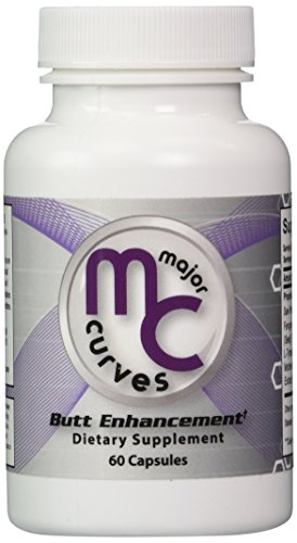 Major Curves Butt Enhancement and Enlargement Capsules (1 Bottle) (Best Booty Enhancement Pills)