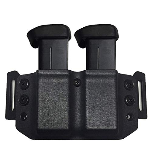 Elite Force Holsters: Kydex Dual Mag Pouch Holster Carrier for FN FNX-45 & FNP-45 ACP Magazines - Black, Right or Left Hand
