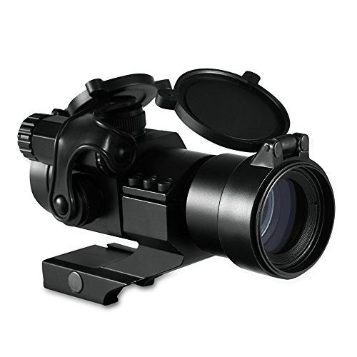 RUNACC Tactical Green Red Dot Sight with Cantilever Mount Gun Sight Co-Witness with Iron Sights by