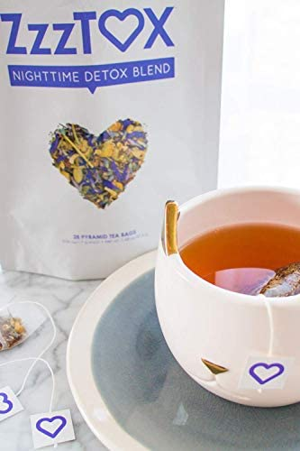 SkinnyFit ZzzTox Nighttime Detox Tea: Caffeine-Free, All-Natural, Laxative-Free, Chamomile, Lavender, Vegan, Supports Weight Loss, Helps Fight Toxins, Restful Sleep, Non-GMO, 28 Servings