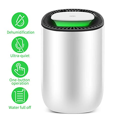 Honati Small Dehumidifier for Bedroom, Bathroom, Baby Room, RV, Wardrobe, Locker and Closet, Ultra Quiet Home Mini Portable Dehumidifiers with Auto Shut Off (Up To 160 Sq.Ft, 600ml)