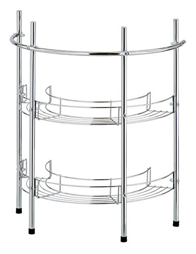 CHROME UNDER SINK BATHROOM 2 TIER STORAGE OIRGANISER CADDY RACK SHELVING UNIT THE BATH SHOP