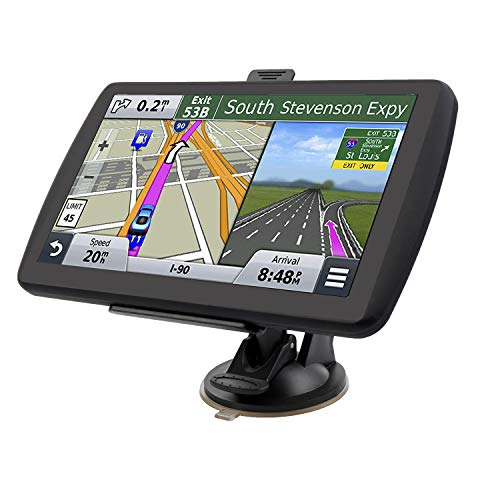LONGRUF Car Navigation System, 500CD 7 inch 8GB HD Touch Screen& Real Voice Broadcast Navigation Syetem with Lifetime Map Free Update ()