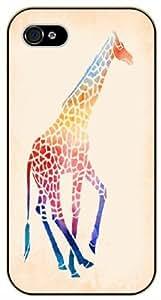 Colorful Giraffe - iPhone 5C black plastic case / Animals and Nature
