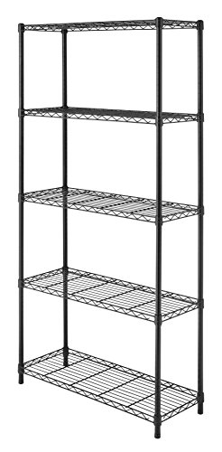 Whitmor  Supreme 5-Tier Shelving Unit Black