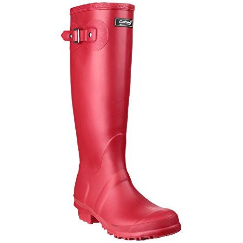Weather 7 UK Womens Wellingtons Sandringham Up Wellington Buckle Boots Red Cotswold 8CfY1w