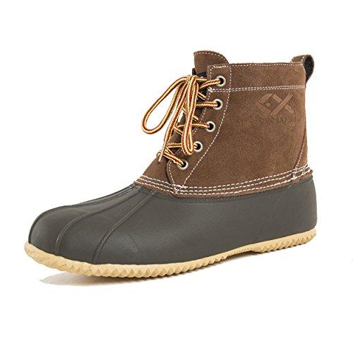 Duck and Fish Women's 200G Thinsulate 5 Eyes Winter Duck Boots (7 US) Dark Brown