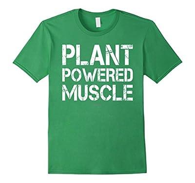 Plant Powered Muscle Shirt. Funny Vegan Bodybuilding Shirts