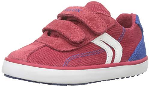 - Geox Kilwi BOY 6 Velcro Sneaker, red blu, 24 Medium EU Toddler (8 US)