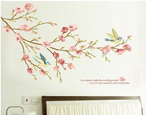 Shabby Chic Pretty Birds Quote Removable Wall Sticker Vintage