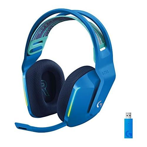 chollos oferta descuentos barato Logitech G Auriculares con Micrófono Inalámbricos Logitech G733 para Gaming con Diadema con Suspensión Lightspeed RGB Lightsync Tecnología de Micrófono Blue VO CE Azul