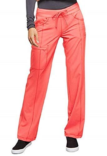 (Cherokee Infinity Women's 1123A Low Rise Straight Leg Drawstring Pant (Orange Sugar, Small))