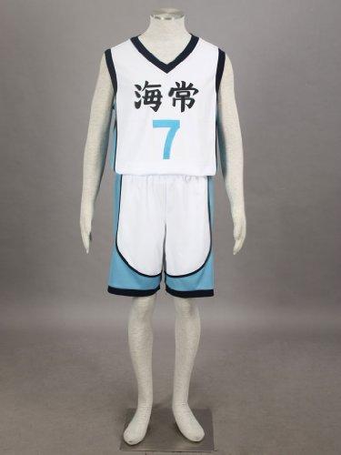 Mtxc Men's Kuroko no basuke Cosplay Kaijo Kise Ryota #7 Jersey 2nd Size XX-Large White