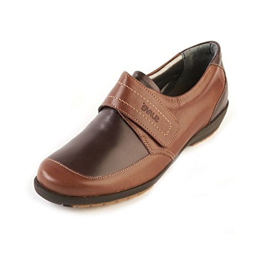 With Coffee E Wide Shoe Lightweight Touch ee Suave Fastening Women's Mocca slip Non 'jenny' Support Fit Sole wIattvq