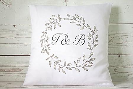 Cuscini Con Iniziali.Personalizzato Giallo Floreale Iniziale 45 7 Cm Bianco Cuscino