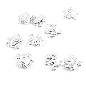 25 Pieces Antique Silver Jewelry Making Supply Charms Findings M5LW4 Thai Elephant