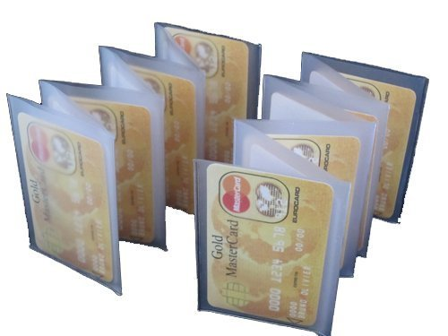 Wallet Inserts Set of 2 Accordian Style Card Picture Holder ()