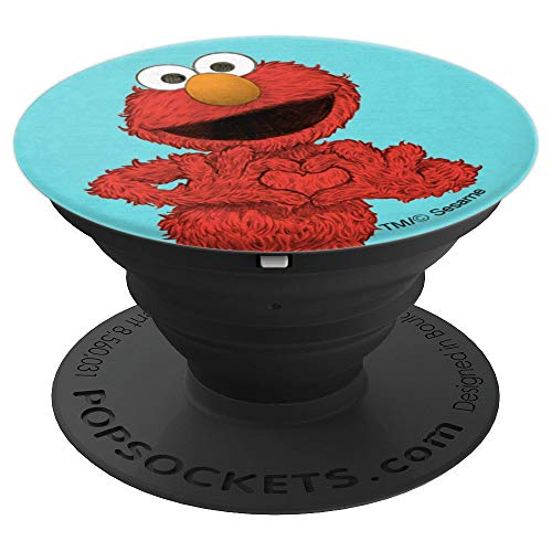 (Sesame Street Elmo - PopSockets Grip and Stand for Phones and Tablets)