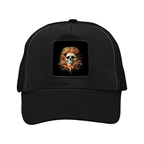 Skull Guarding Gold Coins Men's Trend Creative Baseball Cap Shade Fashion Unisex Grid Hat