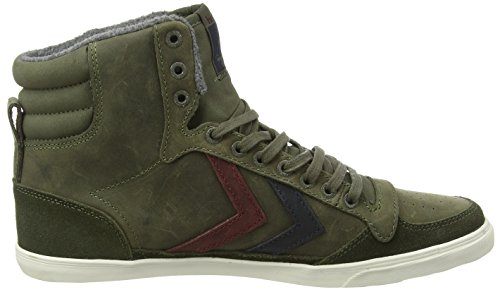 hummel SLIMMER STADIL OILED Unisex-Erwachsene Hohe Sneakers Grün (Ivy Green 6187)