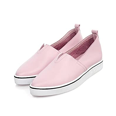 AdeeSu Womens Fashion Pointed-Toe Light-Weight Flatform Leather Loafers Shoes SDC05204