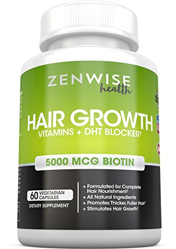 Hair Growth Vitamin Supplement with Biotin and DHT Blocker