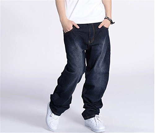 Madehappy Large Size Baggy Men Jeans Long Skateboard Loose Casual Pants Hiphop Man Big Size 30-46 Picture Color 40