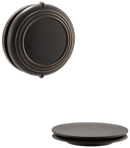 Kohler K-T37393-2BZ PureFlo Cable Bath Drain Trim with Victorian Push Button Handle, Oil Rubbed Bronze
