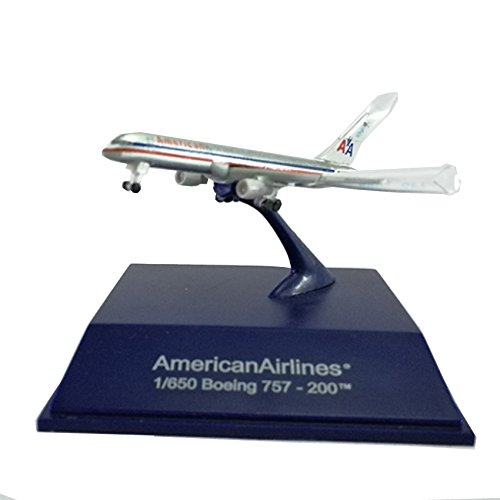 NewRay Die-cast Sky Pilot American Airlines 1:650 Boeing 757-200TM Silver Model (757 American Boeing Airlines)