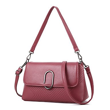 Las mujeres de moda de cuero pu Messenger bolsas de hombro,azul oscuro Blushing Pink