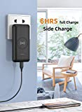 Heloideo 10000 mAh Power Bank Fast Portable Charger with 5.1A 18w Output, Wireless Charger, External Battery Pack with Built in AC Plug,Removable Type-c Cable,Micro Cable and Other Cable for Phone
