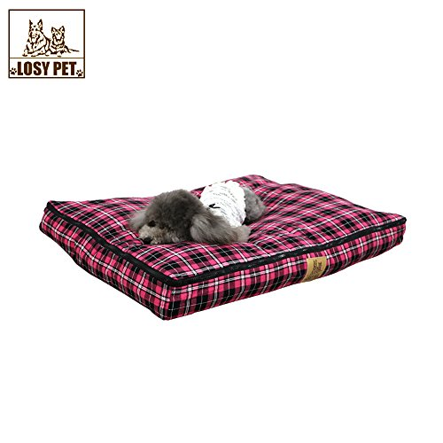 LOSY PET Dogs Cats Bed for Small Medium Large Dogs Cats Crate Clearance, Washable Waterproof Soft Cotton Mattress with Zipper Removable Cover XXL