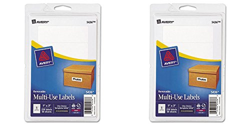 Avery Removable Print/Write Labels, 1 x 3 Inches, White, Pack of 250 (5436), 2 Packs