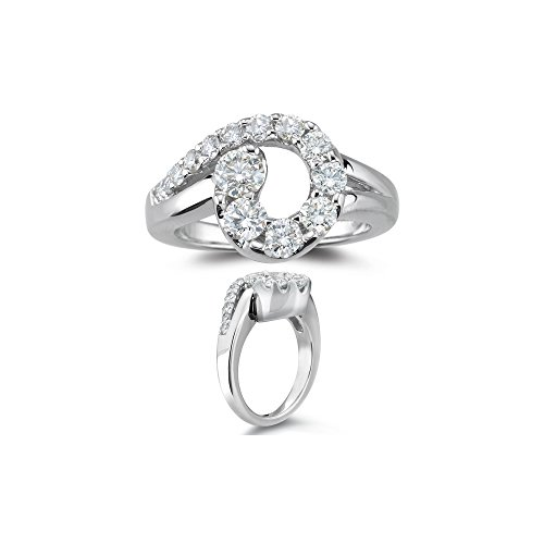 1.09-1.12 Cts SI2 - I1 clarity and I-J color Diamond Journey Ring in 14K White ()