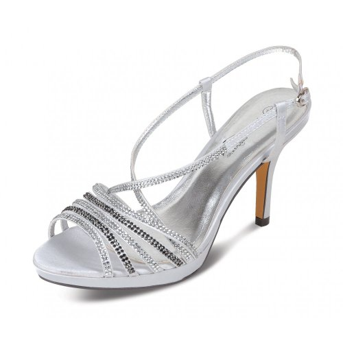 Lunar FLR221 Silver Sandal with Diamante's AwI46v