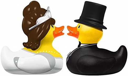 Bathduck L: 6 cm DUCKSHOP Bride and Groom Rubber Duck
